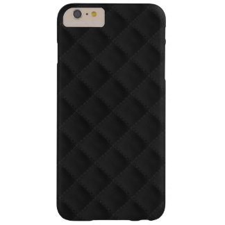 Cuero acolchado negro funda de iPhone 6 plus barely there