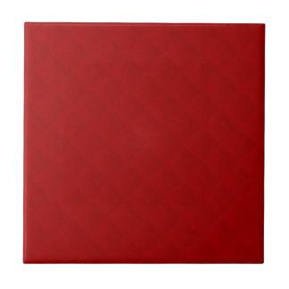 Cuero acolchado rojo de rubíes teja  ceramica