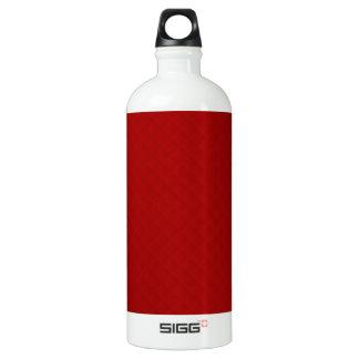 Cuero acolchado rojo de rubíes botella de agua