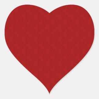 Cuero acolchado rojo de rubíes pegatina en forma de corazón