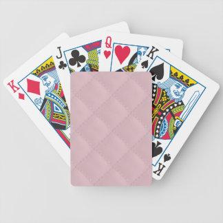 Cuero acolchado rosas bebés barajas de cartas