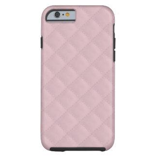 Cuero acolchado rosas bebés funda de iPhone 6 tough