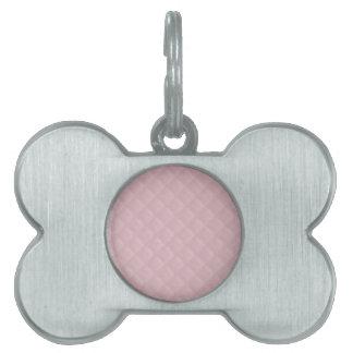 Cuero acolchado rosas bebés placa mascota