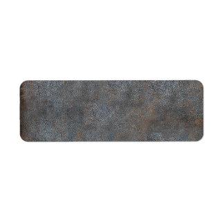 Cuero antiguo del libro gastado etiqueta de remite