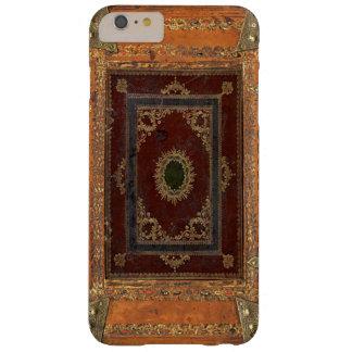 Cuero antiguo y cubierta de libro encuadernado de funda barely there iPhone 6 plus