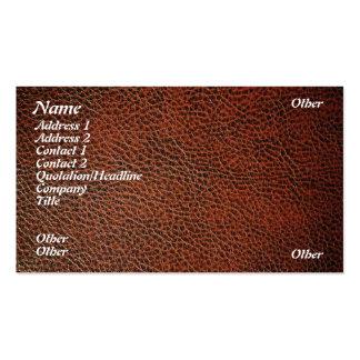 Cuero artificial tarjetas de visita