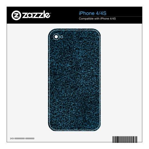 Cuero azul calcomanía para iPhone 4