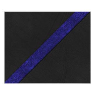 Cuero azul del negro de la raya del papel del fotografías