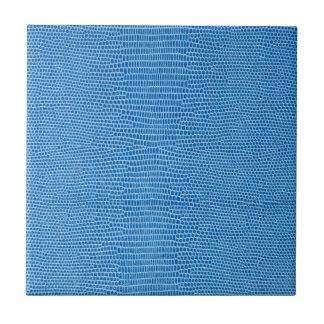 Cuero azul lujoso azulejo cuadrado pequeño