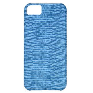 Cuero azul lujoso carcasa para iPhone 5C