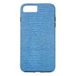 Cuero azul lujoso funda iPhone 7 plus