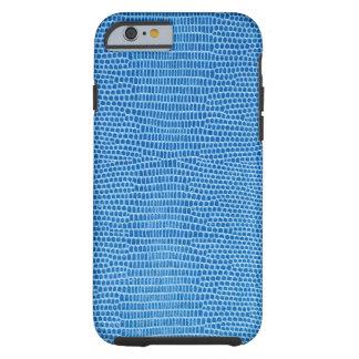 Cuero azul lujoso funda resistente iPhone 6