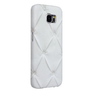 Cuero blanco elegante fundas samsung galaxy s6