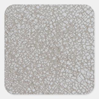 Cuero blanco pegatina cuadrada