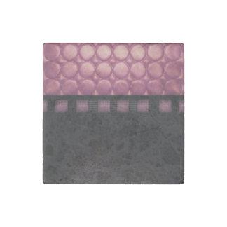 Cuero brillante del negro del polvo rosado imán de piedra