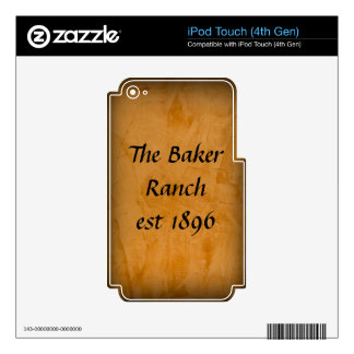 Cuero bronceado iPod touch 4G skins