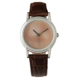 Cuero clásico de Brown de la cebolla Relojes