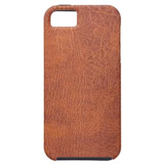 Cuero de Brown iPhone 5 Case-Mate Carcasas