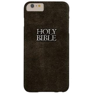 Cuero de Brown de la religión cristiana de la Funda Para iPhone 6 Plus Barely There