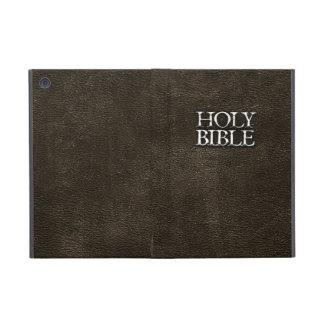 Cuero de Brown de la religión cristiana de la Sagr iPad Mini Cárcasas