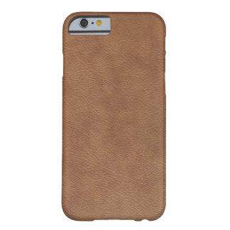 Cuero de Brown Funda De iPhone 6 Barely There