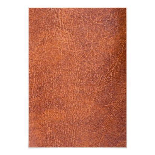 Cuero de Brown Invitación 8,9 X 12,7 Cm
