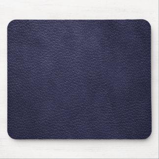 Cuero de encargo retro de los azules marinos tapetes de ratón