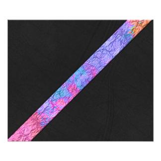 Cuero de papel colorido del negro de la raya de la arte con fotos