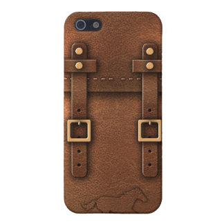 cuero de Pony Express de la taleguilla iPhone 5 Protectores