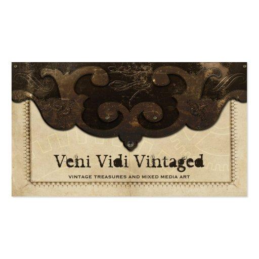 Cuero de Steampunk del Victorian y tarjetas de vis