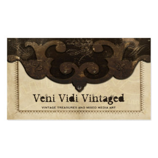 Cuero de Steampunk del Victorian y tarjetas de vis Tarjetas De Visita
