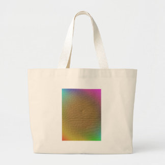 Cuero del arco iris bolsa tela grande