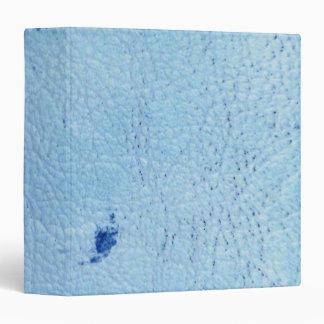 """Cuero del azul del vintage carpeta 1 1/2"""""""