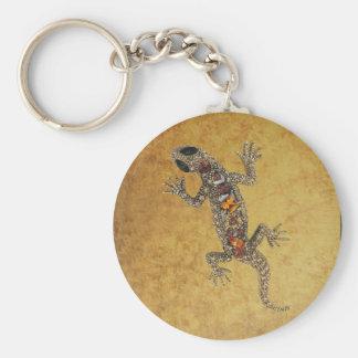 Cuero del lagarto de la joya del llavero (091-013)
