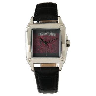 Cuero del negro del cuadrado perfecto de la marca relojes de pulsera