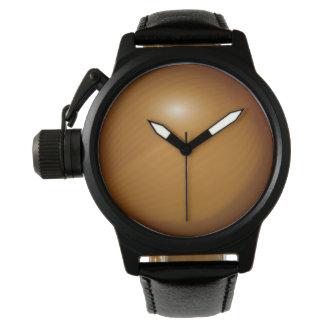 Cuero del negro del protector de la corona de la relojes de pulsera
