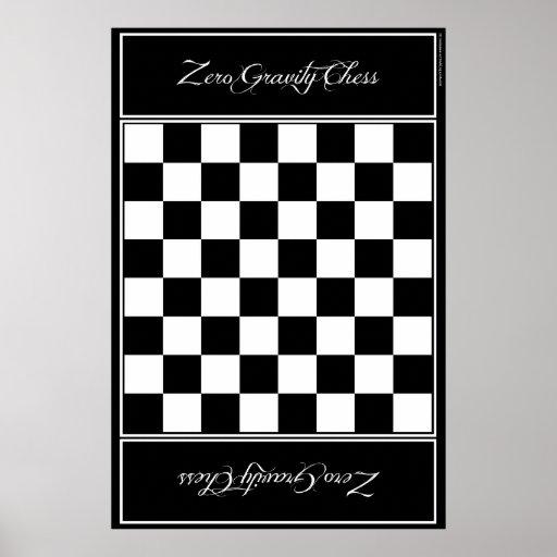 Cuero del tablero de ajedrez - ajedrez de la póster