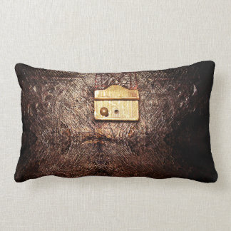 cuero del vintage almohada