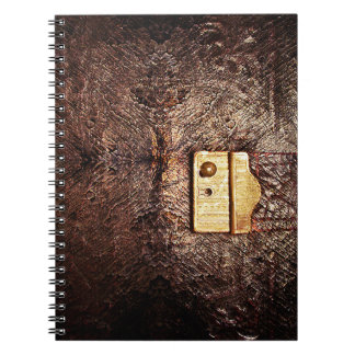 cuero del vintage notebook