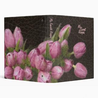 """Cuero elegante y tulipanes románticos carpeta 1"""""""