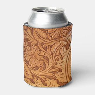Cuero equipado modelo rústico del país occidental enfriador de latas