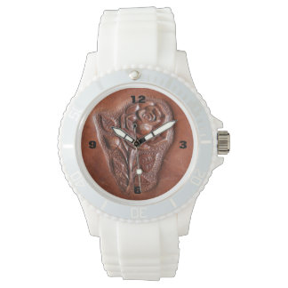 Cuero equipado modelo rústico del país occidental reloj de mano