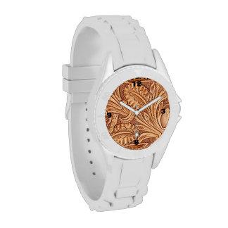 Cuero equipado modelo rústico del país occidental relojes de mano