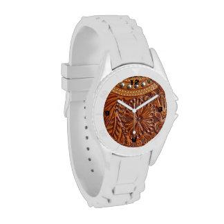 Cuero equipado modelo rústico del país occidental relojes de pulsera