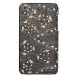 Cuero equipado Studded del diamante artificial iPod Touch Cárcasas