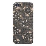 Cuero equipado Studded del diamante artificial iPhone 5 Cárcasas