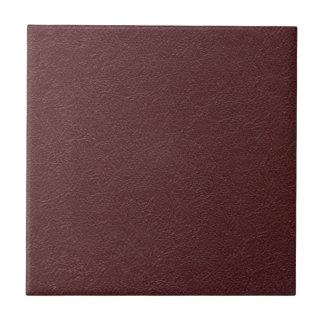 Cuero marrón azulejo cuadrado pequeño