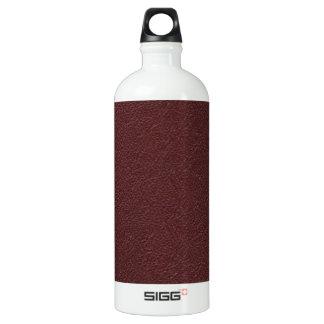 Cuero marrón botella de agua