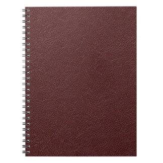 Cuero marrón libros de apuntes