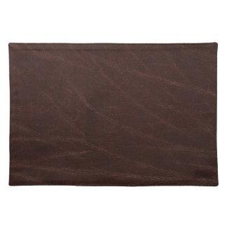 Cuero marrón oscuro mantel